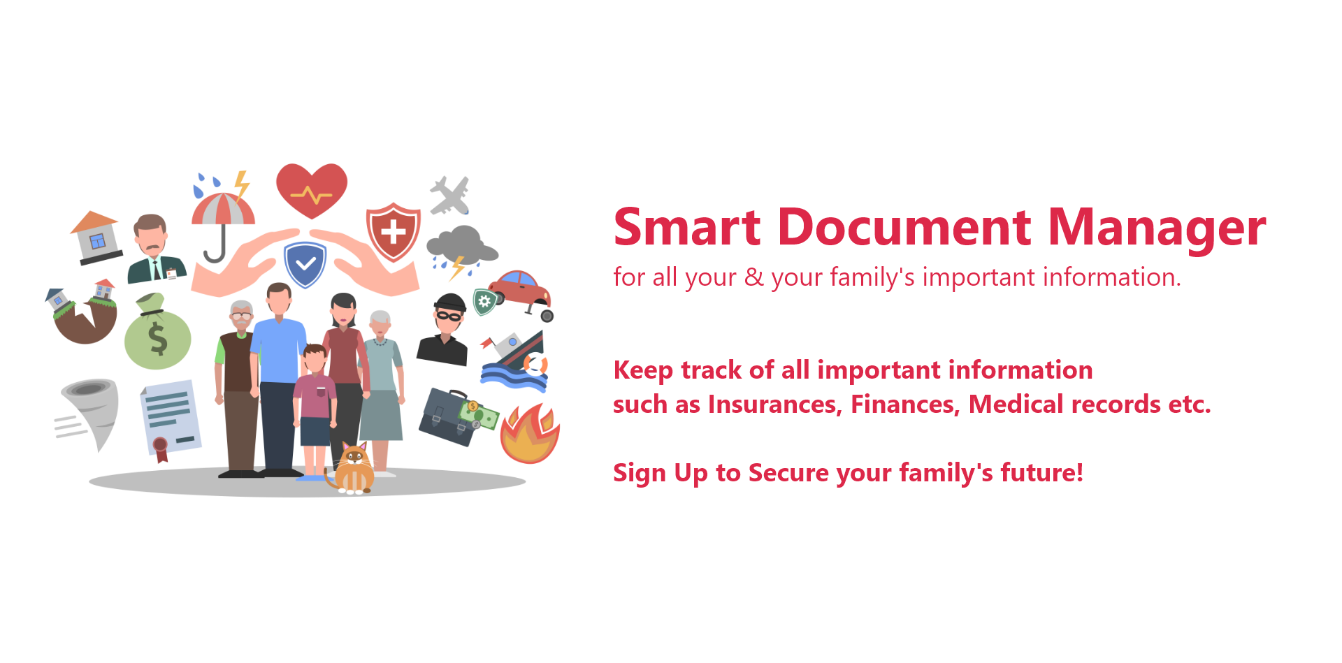 Sorted is a smart document organizer to manage all your and your family's important personal documents