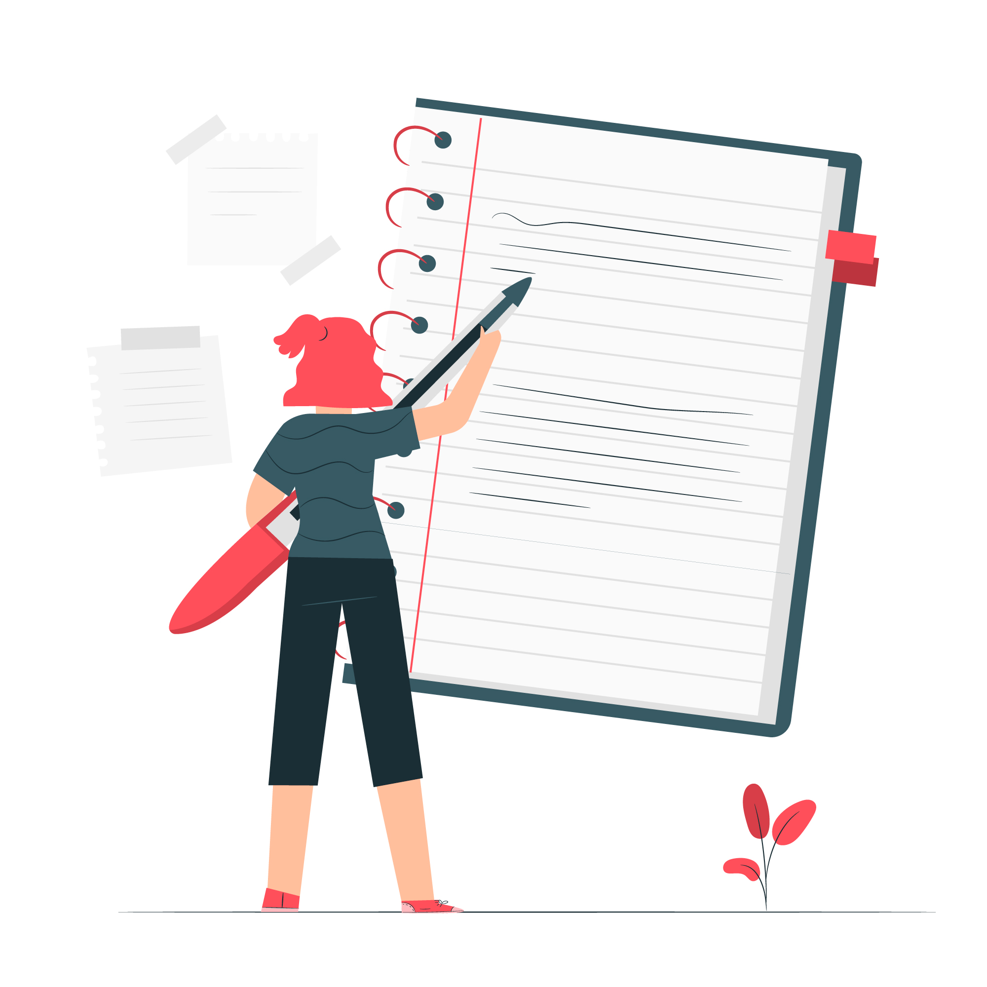 A person taking notes. It is very easy to take notes with Sorted AI.